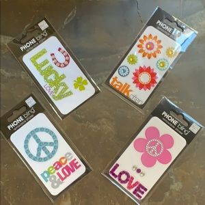 Super Cute 4 Packages Of Cell Phone Bling Stickers